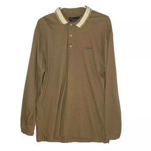 Greg Norman Shark Polo Large Brown lng sleeve